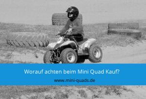 ▶ Worauf sollte man beim Kauf eines Mini Quads achten?