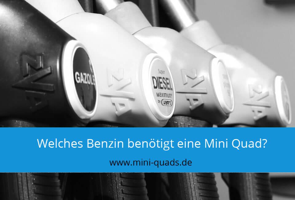 Mischungsverhältnis Benzin Mini Quad