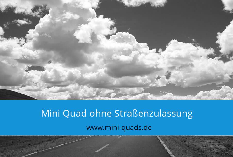 Mini Quad ohne Straßenzulassung