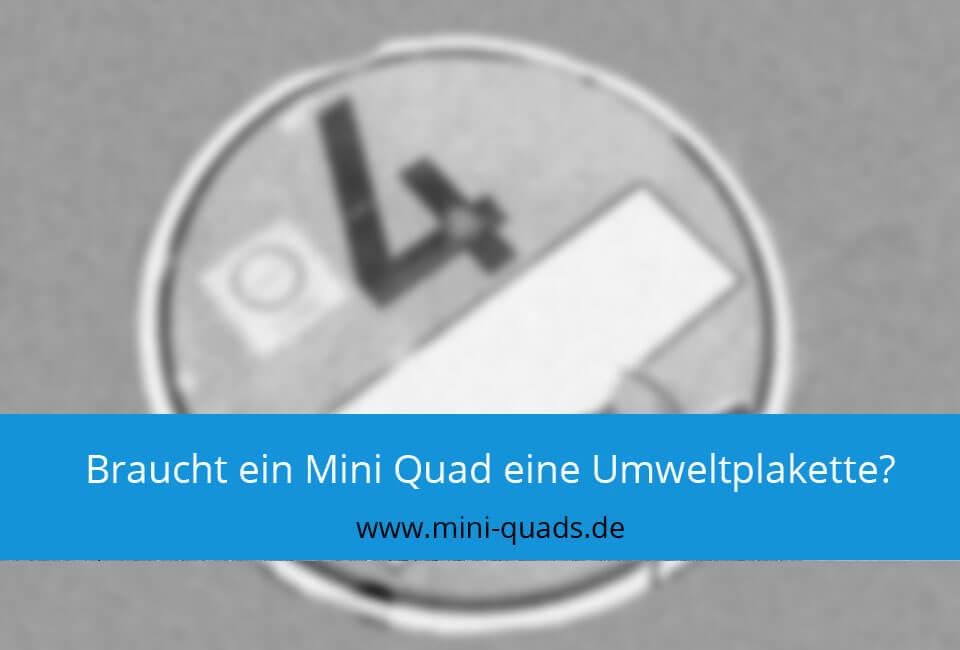 Mini Quad Umweltplakette?