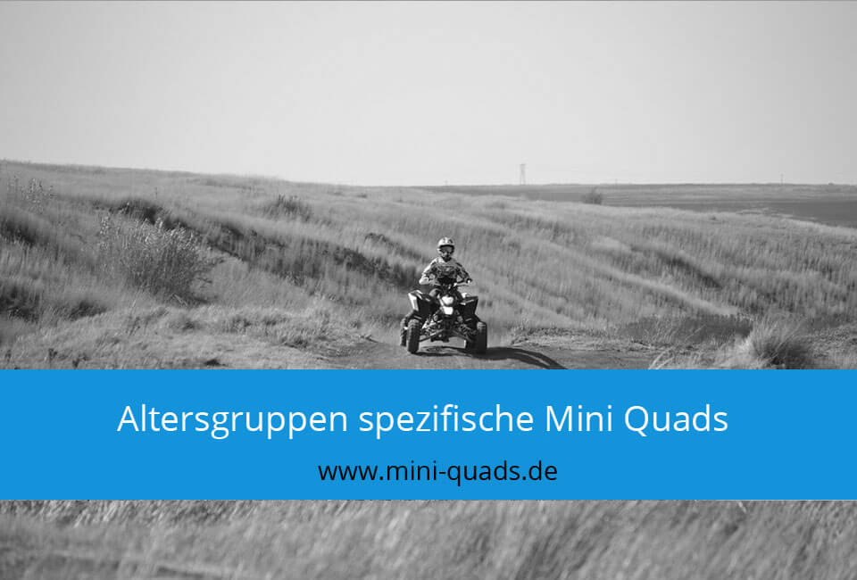 Mini Quad nach Alter / Altersgruppen